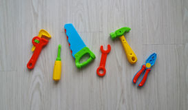 Colorful plastic tools Royalty Free Stock Images