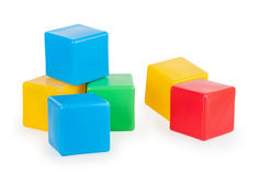 Colorful plastic toy blocks Stock Image