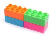 Colorful plastic toy bricks Royalty Free Stock Photo