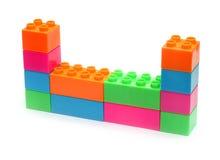 Colorful plastic toy bricks Royalty Free Stock Photos