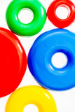 Colorful plastic toy rings Stock Photography