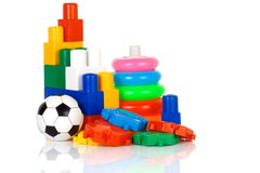 Colorful plastic toys Royalty Free Stock Photography