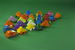 Colorful plastic toys Royalty Free Stock Photos