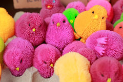 Colorful plastic toys for sale Royalty Free Stock Photography