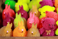 Colorful plastic toys for sale Stock Photography