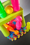 Colorful plastic toys Stock Images