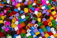 Colorful plastic tubes. Of a child's toy Royalty Free Stock Image