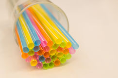 Colorful Plastic Tubes stock photography