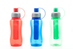 colorful plastic water bottle or  canteen Royalty Free Stock Photo