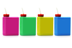Colorful plastic water containers Royalty Free Stock Image