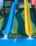 Colorful plastic water-slides. Royalty Free Stock Photography