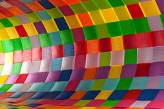 Colorful plastic weave Royalty Free Stock Photo