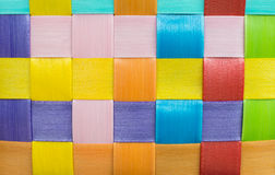 Colorful plastic weave background Stock Photography