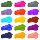 Colorful  Plastic Whistle Stock Photo