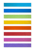 Colorful of Plastic wood Stock Images