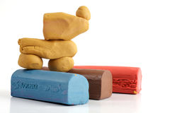 Colorful plasticine Stock Photos
