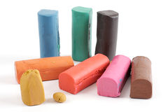 Colorful plasticine Royalty Free Stock Images