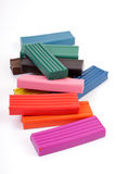 Colorful plasticine Stock Image