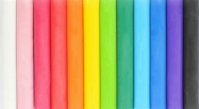 Colorful plasticine Stock Photo