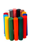 Colorful Plasticine Bars. Royalty Free Stock Photos