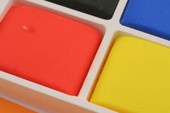Colorful plasticine blocks Royalty Free Stock Photo
