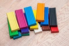 Colorful plasticine blocks Stock Photo