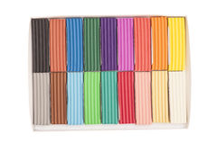 Colorful plasticine in box Royalty Free Stock Image