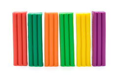 Colorful plasticine bricks. Stock Photo