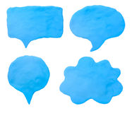 Colorful plasticine clay chat icon Royalty Free Stock Photography