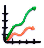 Colorful plasticine clay profit graph Stock Photography