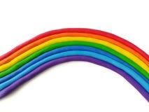 Colorful plasticine clay, rainbow handmade, cute shape dough Stock Images