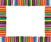 Colorful Plasticine Frame. A frame made from plasticine Stock Images