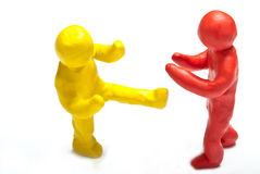 Colorful plasticine guys Stock Photo
