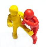 Colorful plasticine guys Royalty Free Stock Image