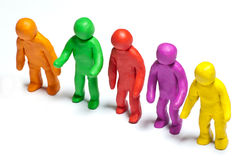 Colorful plasticine guys Stock Image