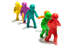 Colorful plasticine guys Stock Photo