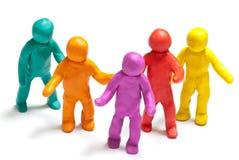 Colorful plasticine guys Stock Photography