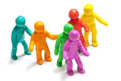 Colorful plasticine guys Stock Image