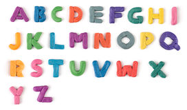 Colorful plasticine letters Royalty Free Stock Photos
