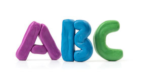 Colorful plasticine letters Royalty Free Stock Images