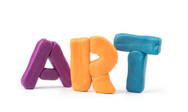 Colorful plasticine letters Stock Images