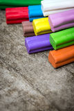 Colorful plasticine for playing Stock Images