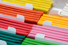 Colorful plasticine set Royalty Free Stock Images