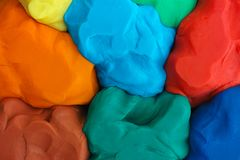 Colorful plasticine texture stock image