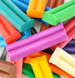 Colorful plasticine Stock Images