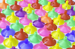 Colorful plastics plastic cup for latex balloon. For background royalty free stock image