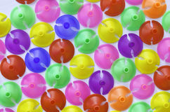 Colorful plastics plastic cup for latex balloon Royalty Free Stock Photo