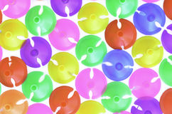 Colorful plastics plastic cup for latex balloon Royalty Free Stock Photography