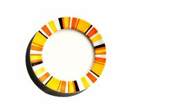 Colorful plate. An empty plate with colorful ring Royalty Free Stock Image