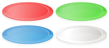 Colorful plates Stock Photos